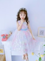 Dress Rainbow sleeveless princess dress 9037 female Other / other The recommended height is 95-105cm for Size 110, 106-115cm for Size 120, 120cm for Size 130, 125-130cm for size 140 and 135-140cm for size 150 Other 100% summer princess Skirt / vest other Netting Princess Dress Class B