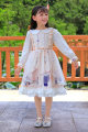 Dress Champagne long sleeve Lolita 8987 female Other / other The recommended height is 100-105cm for Size 110, 106-115cm for Size 120, 116-125cm for Size 130, 126-134cm for size 140 and 135-140cm for size 150 Other 100% spring and autumn Lolita Long sleeves Cartoon animation other other Class B