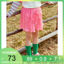 skirt 110cm 120cm 130cm 140cm 150cm 160cm 165cm Cherry powder Mint emerald green Collection Plus purchase enjoy priority delivery Pptown / Baba town female Polyester 100% summer skirt princess Solid color Pleats other G211Z11A17901 Class B Spring 2021