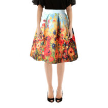 skirt Spring 2020 One size fits all (waist 64-76cm, suitable for 90-125kg) Picture color Middle-skirt street High waist Fluffy skirt polyester fiber Europe and America