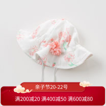 Hat One size (Cap circumference ~ 46cm ~), two size (Cap circumference ~ 48CM ~), the other size (Cap circumference ~ 50cm ~) Chrysanthemum printing Please refer to the cap circumference for details female Fisherman hat dome leisure time DAVE&BELLA Wide eaves other DBH10802-2 Spring of 2019