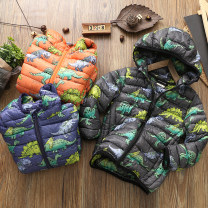Cotton padded jacket neutral No detachable cap other Other / other Blue, orange, hemp black thickening Zipper shirt Europe and America No model Cartoon animation other other other Other 100% Cotton liner Cn manyin dinosaur hooded cotton jacket