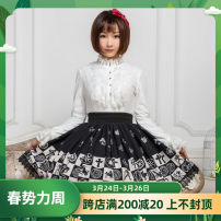 skirt Spring of 2019 XS,S,M,L,XL Black constellation grid Short skirt Sweet Natural waist Pleated skirt lattice 18-24 years old BQ153 other Other / other polyester fiber Lolita