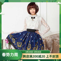 skirt Autumn of 2018 XS,S,M,L,XL,2XL Middle-skirt gorgeous Natural waist Princess Dress scenery Type A 18-24 years old More than 95% knitting Other / other polyester fiber
