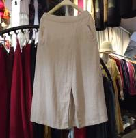 skirt Autumn of 2019 Average size Off white Mid length dress Versatile Natural waist A-line skirt Solid color Type A 71% (inclusive) - 80% (inclusive) brocade hemp Pocket, three-dimensional decoration, asymmetric, worn
