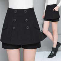 skirt Winter 2020 26,27,28,29,30,31,32 Short skirt Versatile Natural waist Suit skirt Solid color Type A 30-34 years old More than 95% knitting polyester fiber