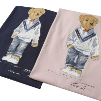 T-shirt Pink, blue and black S. M, l, chest 90cm, chest 88cm Summer 2021 Short sleeve Crew neck Regular routine street cotton 96% and above classic Animal design Other / other printing Europe and America