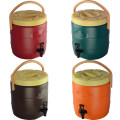 Lunch box / heat preservation bucket / heat preservation pan T0010 Metal Chinese Mainland 13 liters of coffee 18 liters of coffee 13 liters of orange 13 liters of blue 13 liters of green 13 liters of red 18 liters of red Shining 2 layers Self made pictures Above 2L Japanese  public Xiaoxinqing
