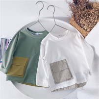 T-shirt Other / other 80cm,90cm,100cm,110cm,120cm,130cm,140cm neutral cotton Solid color 18 months, 2 years old, 3 years old, 4 years old, 5 years old, 6 years old, 7 years old, 8 years old