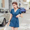 Casual pants S,M,L,XL Summer 2021 shorts Jumpsuit High waist commute Thin money 25-29 years old 31% (inclusive) - 50% (inclusive) other lady pocket