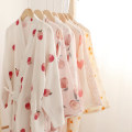 Nightgown / bathrobe Other / other female M, L routine Sweet cotton summer pure cotton Plants and flowers youth printing