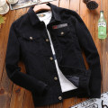 Jacket Field garden Fashion City routine easy Other leisure autumn Long sleeves Wear out Lapel Basic public youth routine Single breasted 2017 Cloth hem No iron treatment Loose cuff Solid color corduroy badge Side seam pocket cotton 90% (inclusive) - 95% (inclusive)
