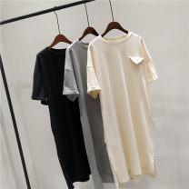 Dress Summer 2021 Grey, black, apricot Average size