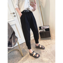 Casual pants Gray, black S,M,L Spring 2021 trousers Haren pants High waist commute routine 25-29 years old Other / other Korean version pocket