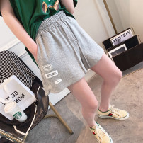 Casual pants White, gray, black S, M Spring 2021 shorts Haren pants High waist commute routine 25-29 years old Other / other Korean version pocket