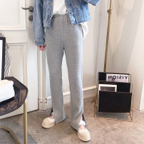 Casual pants Gray, black M,L,XL Spring 2021 trousers Straight pants High waist commute routine 25-29 years old Other / other Korean version pocket
