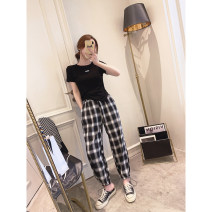 Casual pants White, black Average size Spring 2021 trousers Haren pants High waist commute routine 25-29 years old Other / other Korean version pocket