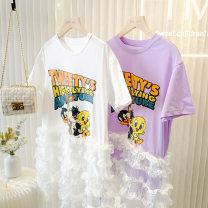 Dress White spot, purple spot female Other / other 7 (110cm), 9 (120cm), 11 (130cm), 13 (140cm), 15 (150cm), 17 (160cm) Cotton 95% polyurethane elastic fiber (spandex) 5% summer princess Solid color cotton Lotus leaf edge IM202551 Class B 7, 8, 14, 3, 6, 2, 13, 11, 5, 4, 10, 9, 12 Chinese Mainland