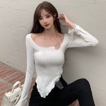 T-shirt White, black Average size Spring 2021 Long sleeves other Self cultivation have cash less than that is registered in the accounts routine other 30% and below 18-24 years old Solid color Other / other ZXJ4685