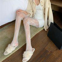 Socks / base socks / silk socks / leg socks female Other / other Average size White, black 1 pair Panties summer sexy lym12540