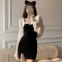Fashion suit Summer 2021 Average size White cardigan, black suspender skirt 18-25 years old Other / other ZXJ6378 30% and below