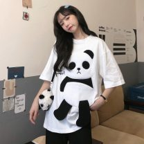 T-shirt White, black M,L,XL Summer 2021 Short sleeve Crew neck easy Medium length commute other 30% and below 18-24 years old Korean version Other / other FWL834