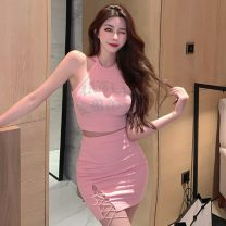 Fashion suit Summer 2021 S, M Pink suit, black suit 18-25 years old Other / other ZXJ5861 30% and below