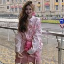 Fashion suit Spring 2021 S,M,L Skirt, pink shirt 18-25 years old Other / other lym14903 30% and below