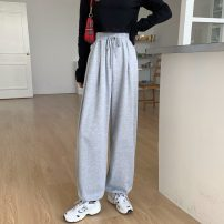 Casual pants Grey routine, black routine M,L,XL Spring 2021 trousers commute Thin money 18-24 years old 31% (inclusive) - 50% (inclusive) lym13339 Other / other cotton