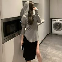 Fashion suit Summer 2021 Average size Grey top, white top, grey suspender skirt, black suspender skirt 18-25 years old Other / other ZXJ6406 30% and below
