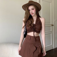 Fashion suit Summer 2021 S. M, average size Suspender vest, skirt 18-25 years old Other / other ZXJ5928 30% and below