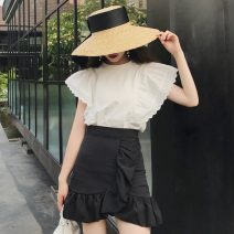 Fashion suit Summer 2021 S. M, average size White top, black skirt 18-25 years old Other / other ZXJ4734 30% and below
