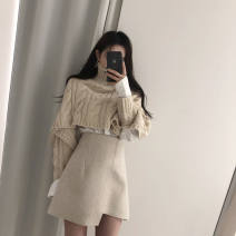 Fashion suit Autumn 2020 Average size Off white sweater, skirt s, Skirt M 71% (inclusive) - 80% (inclusive)