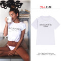 T-shirt White, black Short sleeve Crew neck easy Regular routine street cotton 96% and above 18-24 years old youth letter printing Europe and America