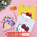T-shirt Let her go 90cm,100cm,110cm,120cm,130cm,140cm,150cm,160cm female summer Short sleeve Crew neck leisure time No model nothing Pure cotton (100% cotton content) Cartoon animation Cotton 100% Class B other