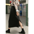 skirt Spring 2021 S,M,L,XL Smoky grey Mid length dress commute High waist A-line skirt Solid color Type A 30% and below other Other / other other Pocket, asymmetric, open line decoration Korean version