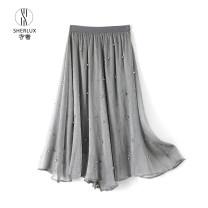 skirt Spring 2021 Average size Gray, white, black FBX-158-2106 polyester fiber