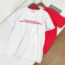 T-shirt White, red Average size Summer 2021 Short sleeve Crew neck Straight cylinder Regular routine commute cotton 30% and below 18-24 years old Korean version other Babaon