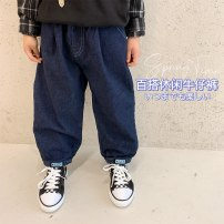 trousers Other / other male 90cm,100cm,110cm,120cm,130cm,140cm,150cm As shown in the figure spring and autumn trousers Korean version There are models in the real shooting Casual pants Leather belt middle-waisted Cotton denim X21031