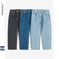 Jeans other Transient S,M,L,XL,XXL,XS Dark blue, light blue, black Micro bomb trousers Travel? Four seasons middle-waisted Metal decoration