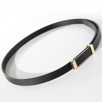 Belt / belt / chain top layer leather female belt cowboy Single loop Youth, middle age Smooth button soft surface alloy