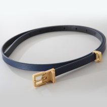 Belt / belt / chain Double skin leather Dark blue 40, yellow 38, sky blue 38, yellow 40, orange 38, orange 40, sky blue 40, dark blue 38, dark blue 42 female belt Versatile Single loop Youth, middle age Pin buckle Glossy surface soft surface 1cm alloy pinkycolor  FDK327