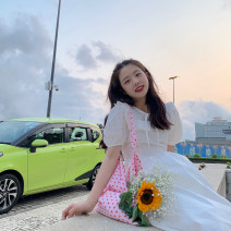 Dress Summer 2021 Green, white Average size