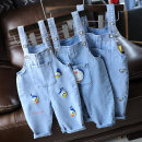 trousers neutral summer Cropped Trousers Korean version No model Jeans Button middle-waisted Denim Open crotch Cotton 95% polyethylene terephthalate (polyester) 5% Class A 3 years, 18 months, 9 months, 5 years, 12 months, 3 months, 6 months, 2 years, 4 years Chinese Mainland
