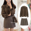 Fashion suit Autumn 2020 S,M,L,XL Plaid skirt, brown shirt, suit 18-25 years old Other / other