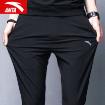 trousers male Anta XS/160 S/165 M/170 L/175 XL/180 2XL/185 3XL/190 Spring 2020 Frenulum Sports & Leisure routine Men's training Brand logo light Edition polyester fiber ventilation Woven nothing middle-waisted yes