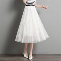 skirt Summer 2021 Average size BEIGE BLACK longuette commute Natural waist Solid color Type H 25-29 years old SXDQ2l031 More than 95% Paradise of awakening polyester fiber lady Polyester 100% Pure e-commerce (online only)
