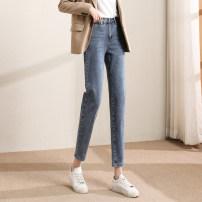 Jeans Spring 2021 Denim light blue - 7 days pre sale S M L XL trousers Natural waist Pencil pants routine 18-24 years old Wash button Cotton elastic denim light colour SXK2l024 Paradise of awakening 71% (inclusive) - 80% (inclusive) Pure e-commerce (online only)
