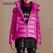 Down Jackets Winter 2018 Migaino / manyanu White duck down 90% have cash less than that is registered in the accounts Long sleeve zipper stand collar Pile sleeve MI42IA029 100g (including) - 150g (excluding) 25-29 years old wool Black, rose purple XS,S,M,L,XL