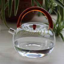 teapot Heat resistant glass Taiwan Province Handmade Self made pictures Transparent handle amber main picture yellow handle blue handle green handle 701ml (including) - 800ml (including) sm88888 380g zero point zero three
